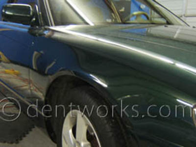 dent repaired with PDR